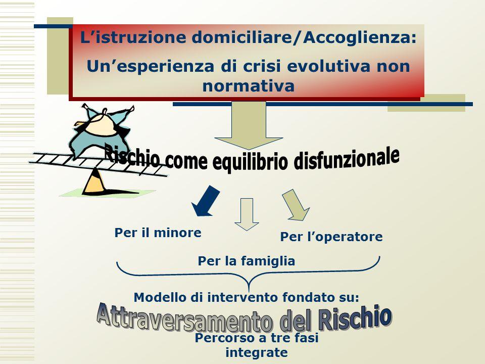 L'istruzione domiciliare/Accoglienza: Un'esperienza di crisi evolutiva non normativa L'istruzione domiciliare/Accoglienza: Un'esperienza di crisi evol