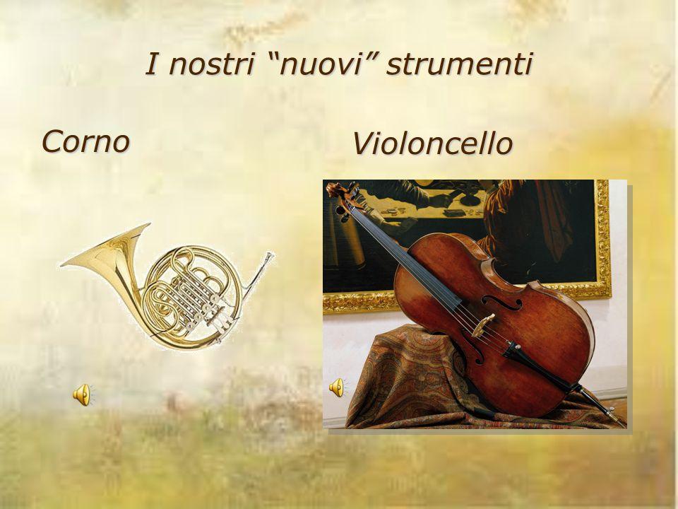 """I nostri """"nuovi"""" strumenti Corno Violoncello"""