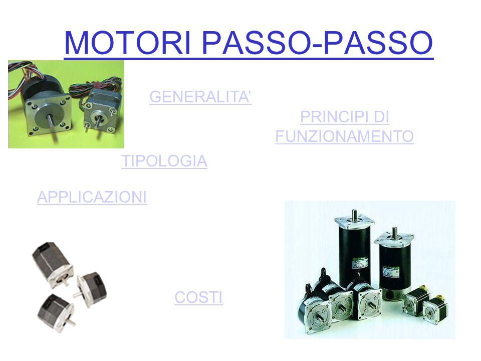 Generalità Il motore passo-passo è un trasduttore elettromeccanico.