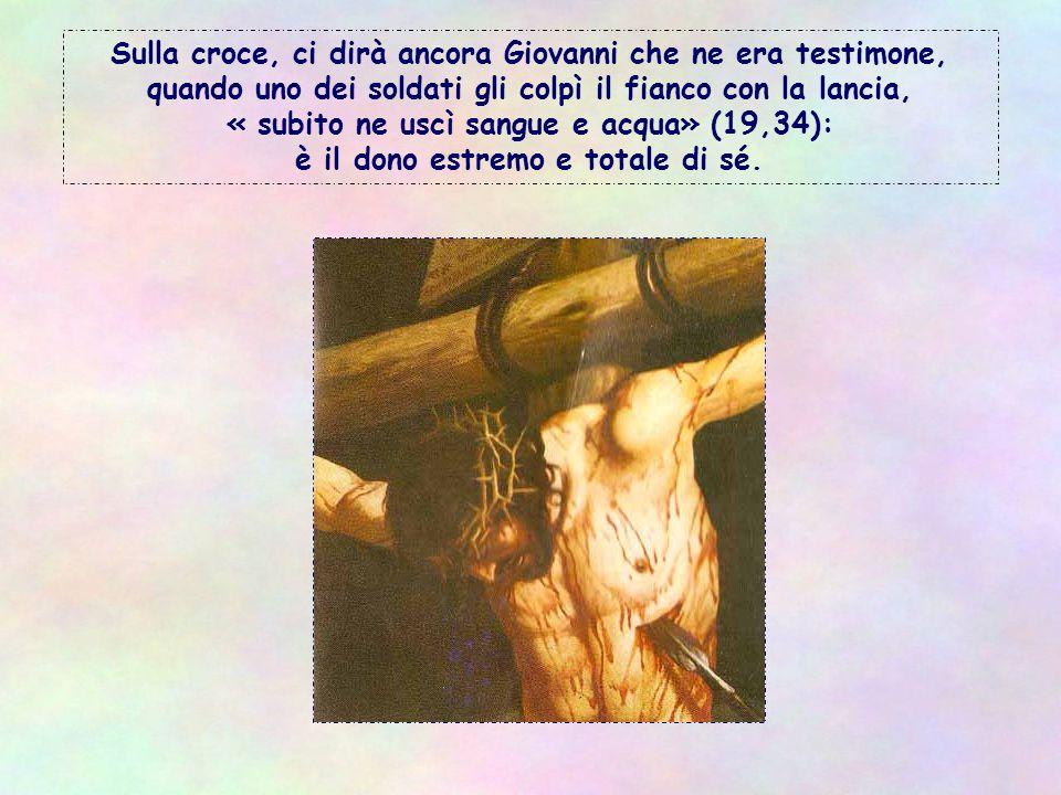 Tutto quanto egli dona è vivo e per la vita: lui stesso è il pane vivo (cf 6,51ss), è la Parola che dà la vita (cf 5,25), è semplicemente la Vita (cf 11, 25-26).