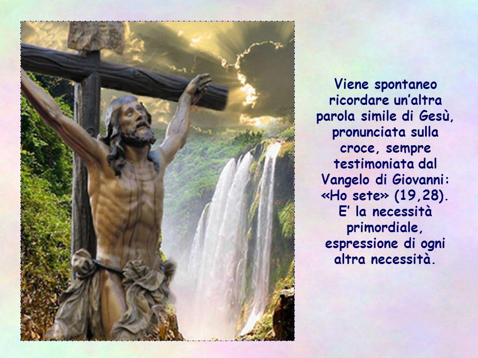 Anche in chi è di parte avversa o di altra estrazione culturale, religiosa, sociale, si nasconde un Gesù che si rivolge a noi e ci chiede: Dammi da bere