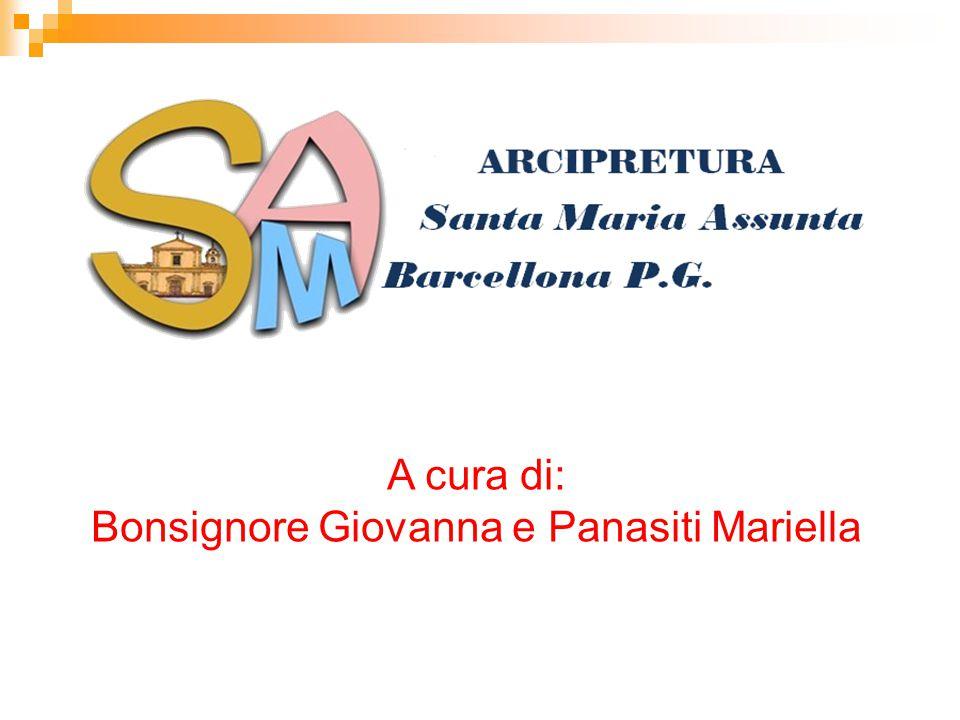 A cura di: Bonsignore Giovanna e Panasiti Mariella