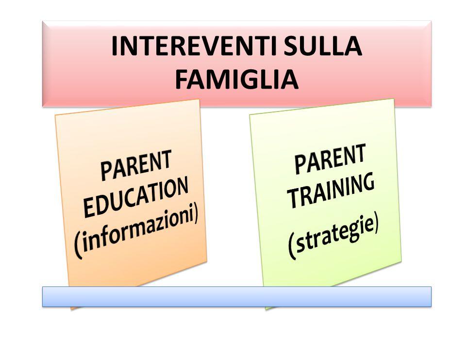 INTEREVENTI SULLA FAMIGLIA