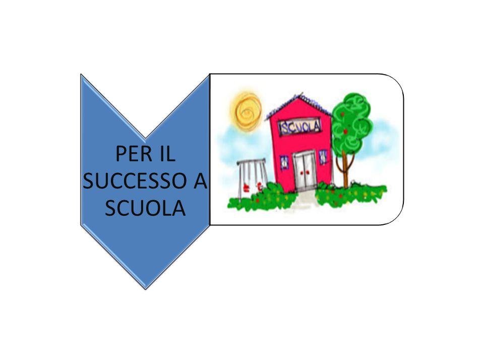 PER IL SUCCESSO A SCUOLA
