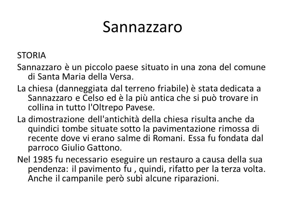 Sannazzaro STORIA Sannazzaro è un piccolo paese situato in una zona del comune di Santa Maria della Versa.