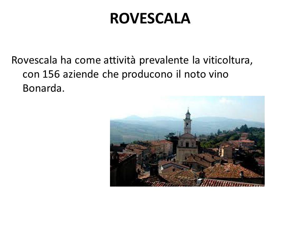 ROVESCALA Rovescala ha come attività prevalente la viticoltura, con 156 aziende che producono il noto vino Bonarda.