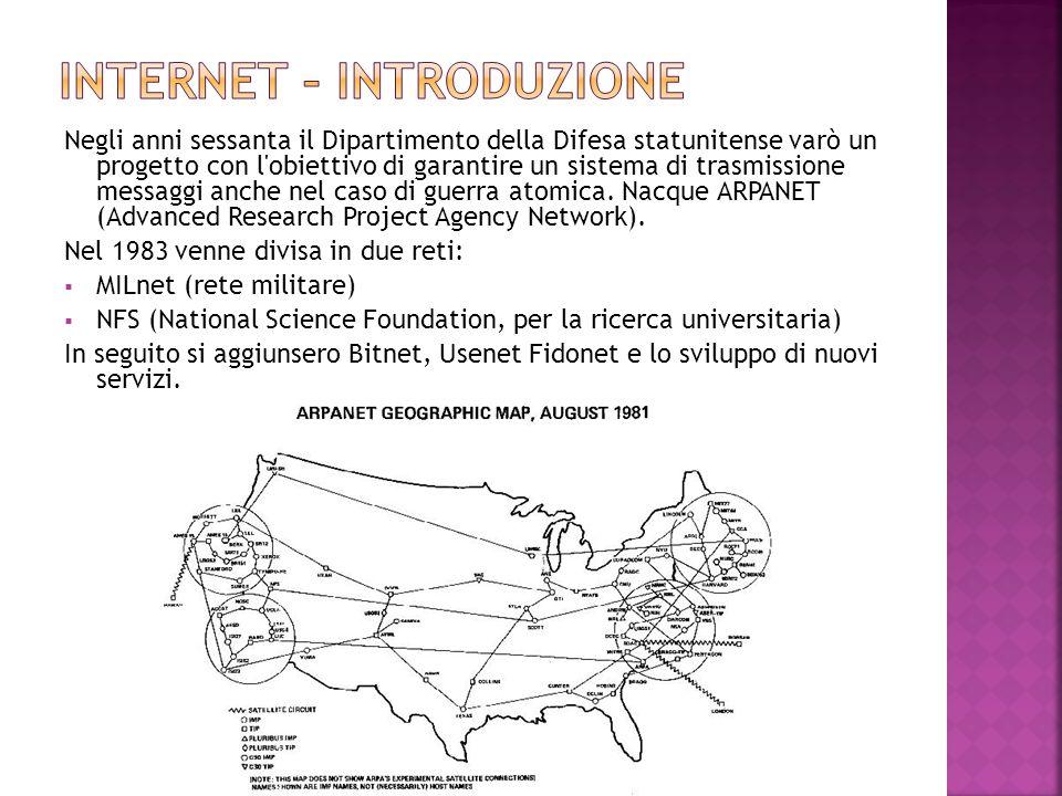 Negli anni sessanta il Dipartimento della Difesa statunitense varò un progetto con l'obiettivo di garantire un sistema di trasmissione messaggi anche