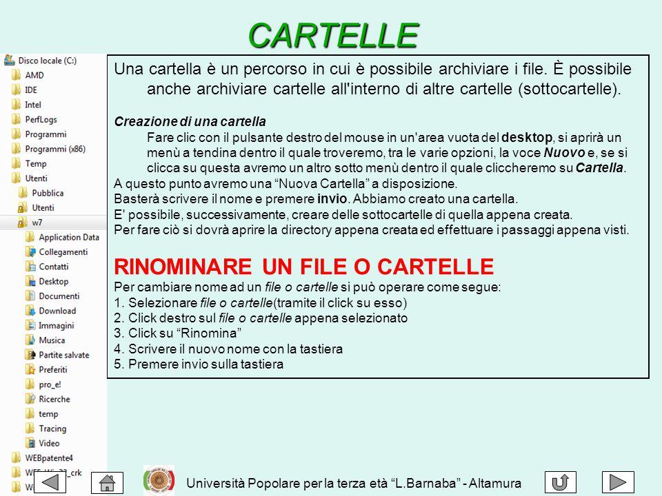 Una cartella è un percorso in cui è possibile archiviare i file. È possibile anche archiviare cartelle all'interno di altre cartelle (sottocartelle).