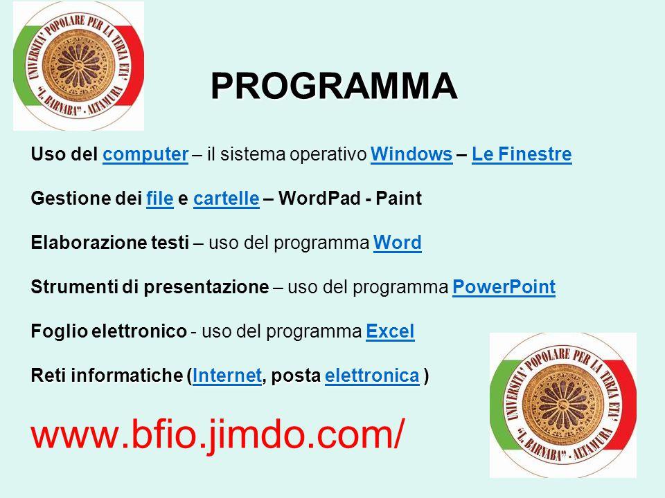 www.bfio.jimdo.com/ Università Popolare per la terza età L.Barnaba - Altamura