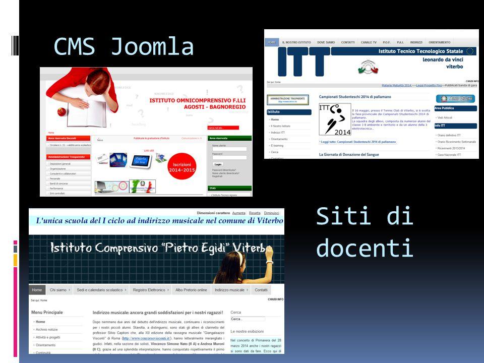 CMS Joomla Siti di docenti