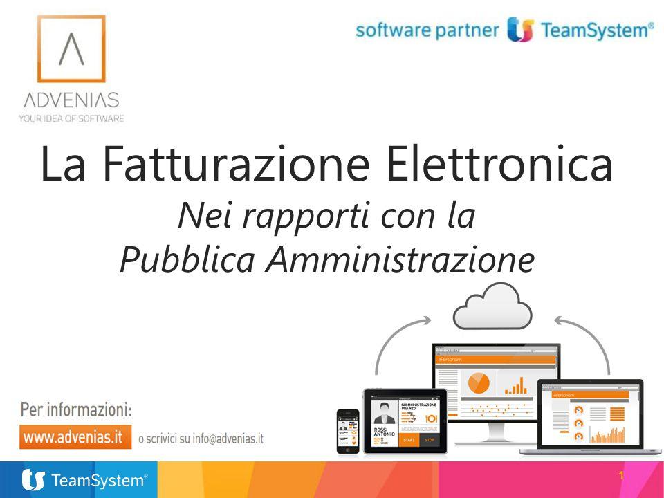 1 La Fatturazione Elettronica Nei rapporti con la Pubblica Amministrazione