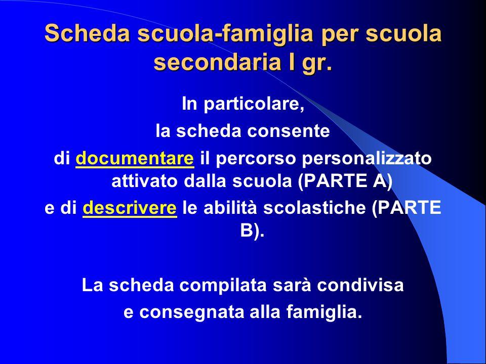 Le schede di comunicazione scuola-famiglia non costituiscono attività di screening (Legge n.