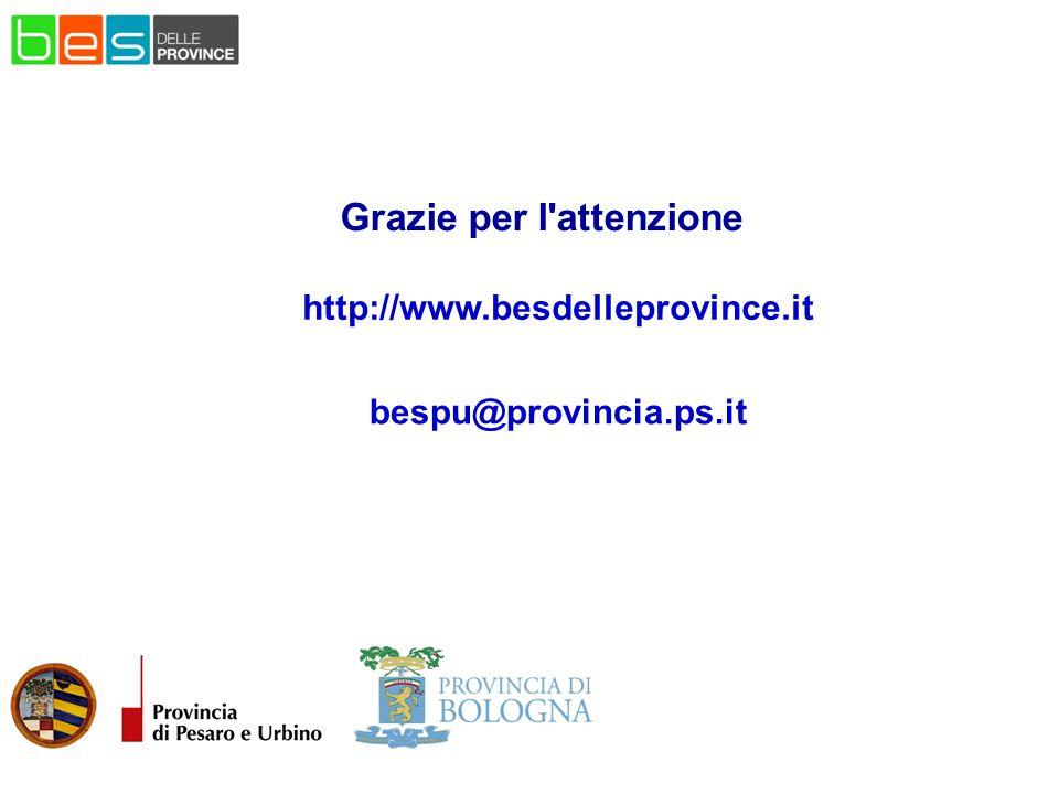 http://www.besdelleprovince.it Grazie per l'attenzione bespu@provincia.ps.it