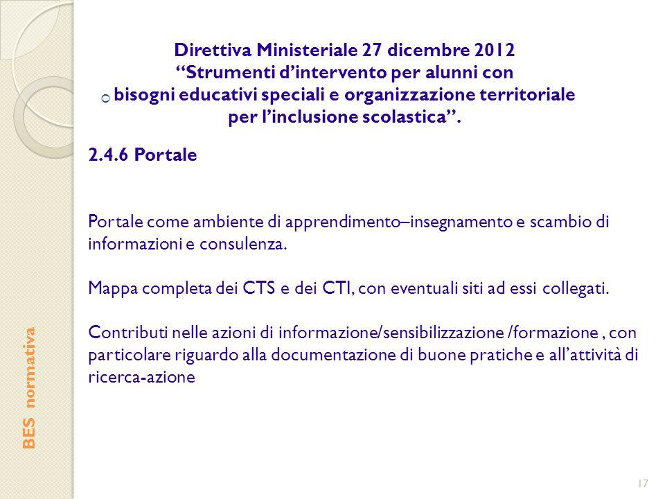 """ BES normativa Direttiva Ministeriale 27 dicembre 2012 """"Strumenti d'intervento per alunni con bisogni educativi speciali e organizzazione territorial"""
