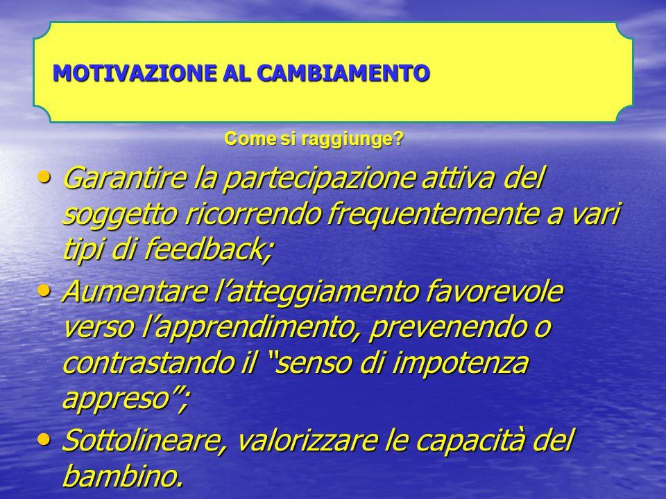 VARIABILI IMPLICATE NEL CAMBIAMENTO RELATIVE AL SOGGETTO: ABILITA' INTERPERSO NALI PERCEZIONE DI AUTOEFFICACIA AUTOSTIMA CONSAPEVOLEZZA DELLE DIFFICOLTA' MOTIVAZIONE AL CAMBIAMENTO