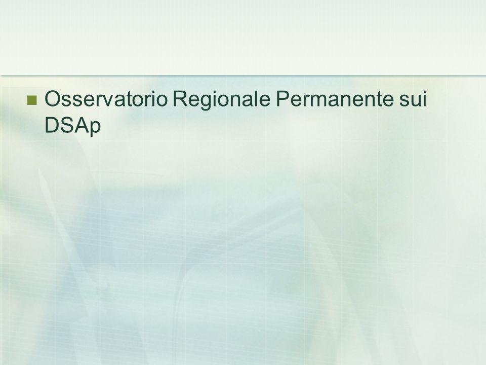 Osservatorio Regionale Permanente sui DSAp