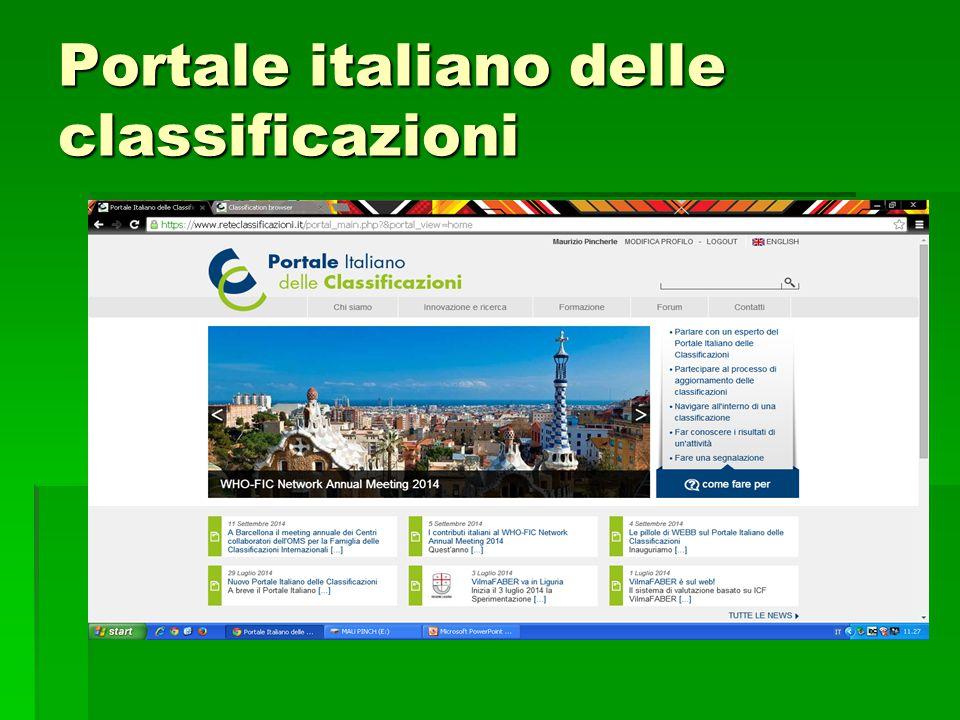 Portale italiano delle classificazioni