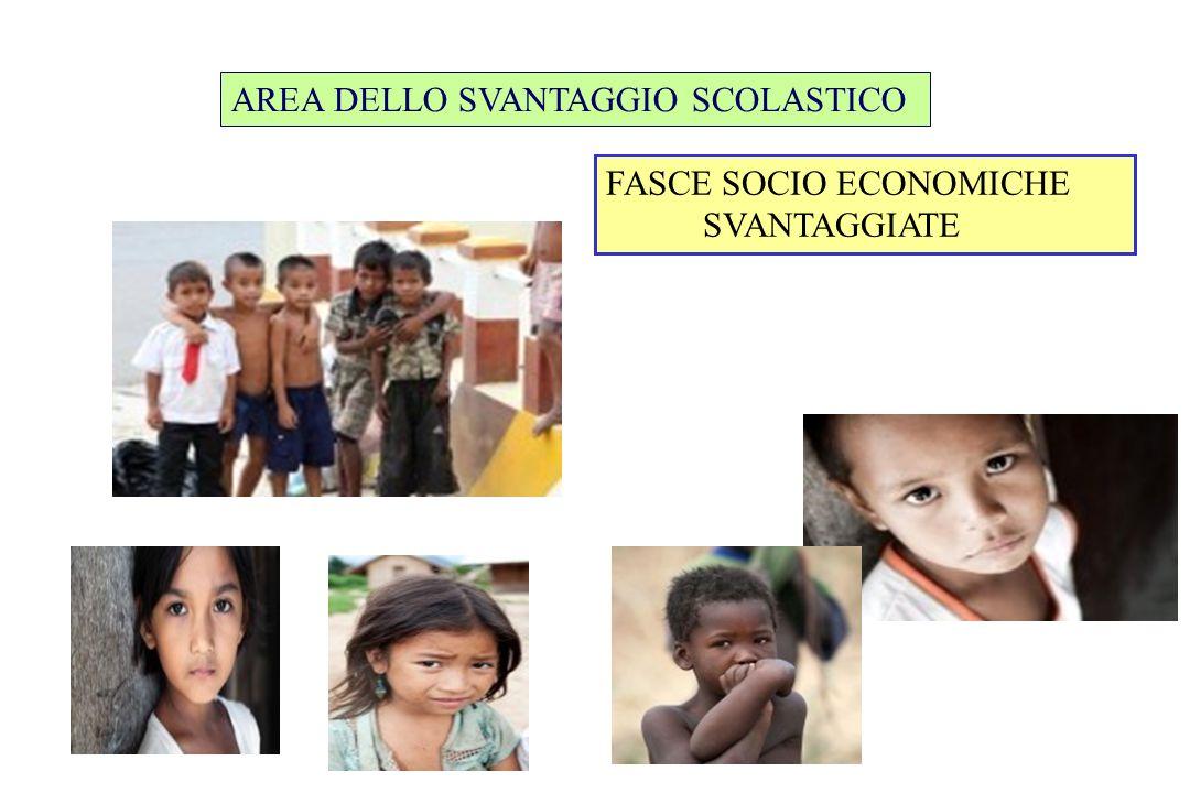 FASCE SOCIO ECONOMICHE SVANTAGGIATE AREA DELLO SVANTAGGIO SCOLASTICO