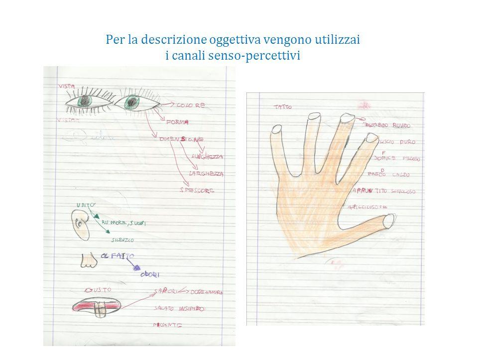 Per la descrizione oggettiva vengono utilizzai i canali senso-percettivi