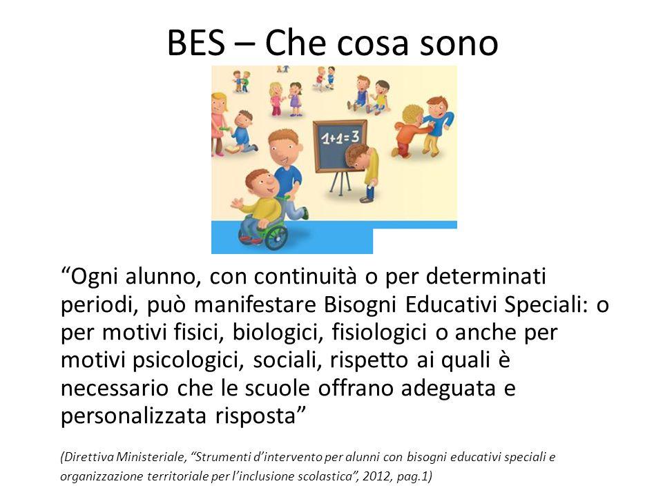 """BES – Che cosa sono """"Ogni alunno, con continuità o per determinati periodi, può manifestare Bisogni Educativi Speciali: o per motivi fisici, biologici"""