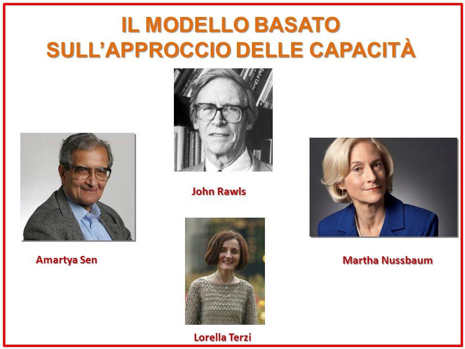 IL MODELLO BASATO SULL'APPROCCIO DELLE CAPACITÀ Amartya Sen Martha Nussbaum Lorella Terzi John Rawls