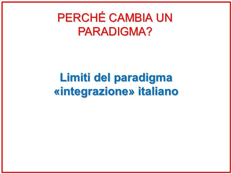 Limiti del paradigma «integrazione» italiano