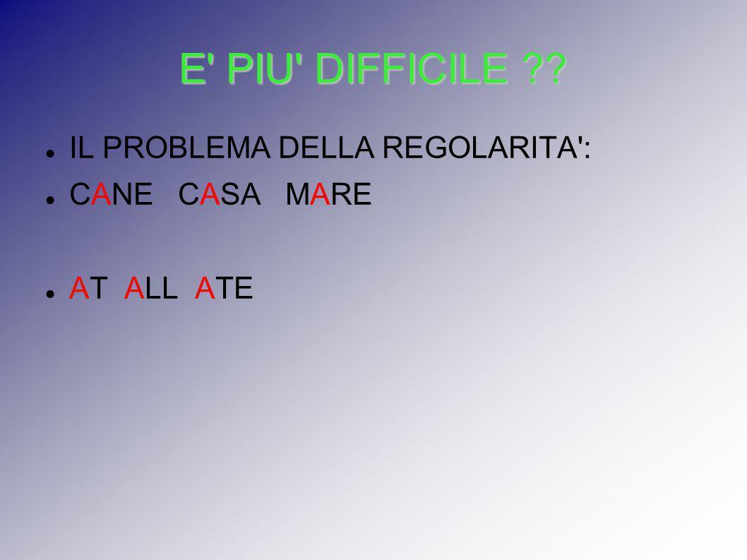 E' PIU' DIFFICILE ?? IL PROBLEMA DELLA REGOLARITA': CANE CASA MARE AT ALL ATE