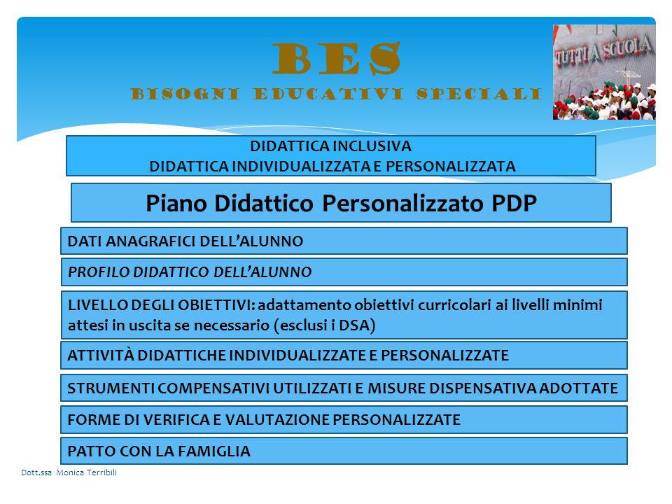 BES bisogni educativi speciali DIDATTICA INCLUSIVA DIDATTICA INDIVIDUALIZZATA E PERSONALIZZATA Piano Didattico Personalizzato PDP DATI ANAGRAFICI DELL