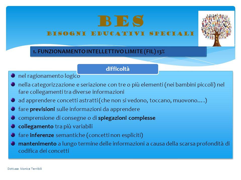 BES bisogni educativi speciali nel ragionamento logico nella categorizzazione e seriazione con tre o più elementi (nei bambini piccoli) nel fare colle
