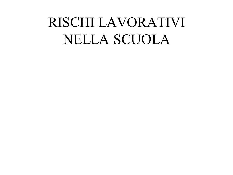 RISCHI LAVORATIVI NELLA SCUOLA