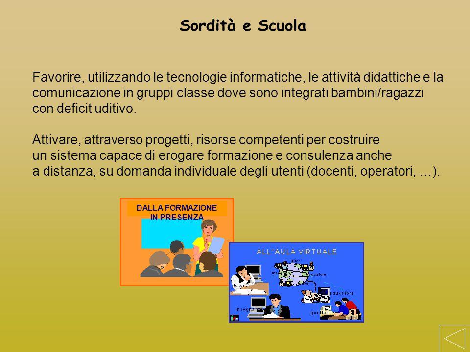 Favorire, utilizzando le tecnologie informatiche, le attività didattiche e la comunicazione in gruppi classe dove sono integrati bambini/ragazzi con d
