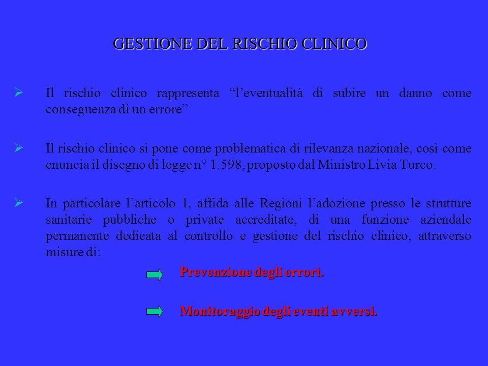 I PROGETTI PER IL BIENNIO 2007 - 2008 Sviluppo di procedure aziendali per la gestione di rischi specifici Risultati attesi  Corretta gestione dell'informazione e raccolta del relativo consenso con l'elaborazione di Linee di indirizzo regionali.