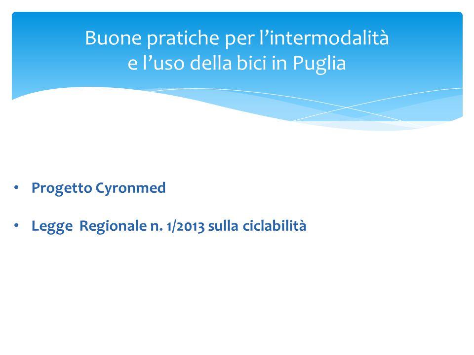 Buone pratiche per l'intermodalità e l'uso della bici in Puglia Progetto Cyronmed Legge Regionale n.
