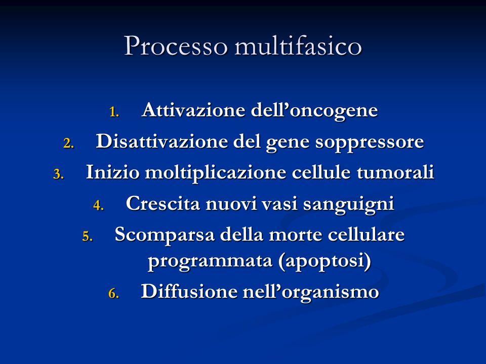 Processo multifasico 1. Attivazione dell'oncogene 2.