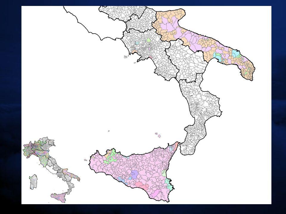 (N° zone/area totale zone) * 10 4 1° INDICE COMPARATIVO: (N° zone/area totale zone) * 10 4 l'indicatore risulta essere maggiore per le regioni che non hanno zonizzato completamente il territorio