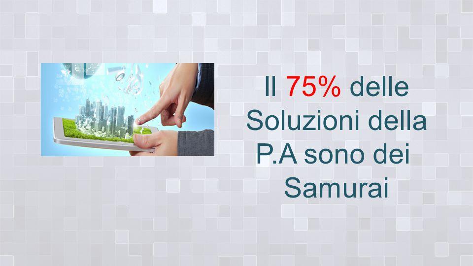 Il 75% delle Soluzioni della P.A sono dei Samurai