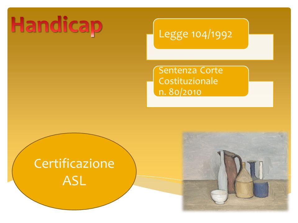 Legge 104/1992 Sentenza Corte Costituzionale n. 80/2010 Certificazione ASL