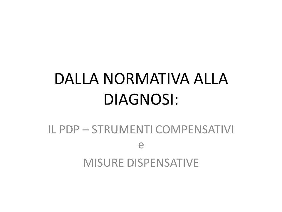 DALLA NORMATIVA ALLA DIAGNOSI: IL PDP – STRUMENTI COMPENSATIVI e MISURE DISPENSATIVE