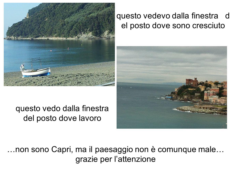 …non sono Capri, ma il paesaggio non è comunque male… grazie per l'attenzione questo vedevo dalla finestra d el posto dove sono cresciuto questo vedo