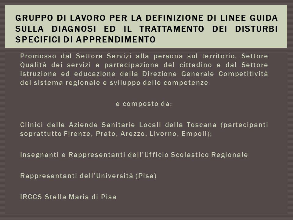 Un Centro Territoriale di Supporto (CTS) per ogni provincia della Toscana, con la costituzione di una rete di coordinamento e di supporto con collaborazioni con i Centri Ausili delle A.USL e con l'Università di Pisa - Facoltà di ingegneria.