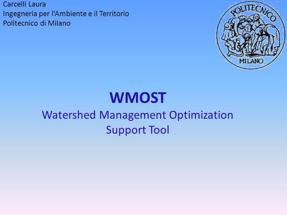 Indice: pag Descrizione: 3 Schema dei flussi d'acqua potenziali in WMOST 4 Scopo e finalità 5 Interfaccia: 6 Schermata iniziale chiamata Main 7 Esempi di tabelle di inserimento dati input 8 Schermate relative ai risultati dell'ottimizzazione 9 Dati per il funzionamento (input) 10 Specifiche hardware e software 14 Giudizio su semplicità 15