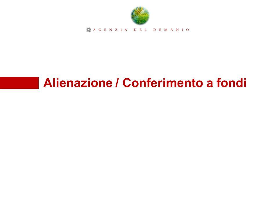 Alienazione / Conferimento a fondi