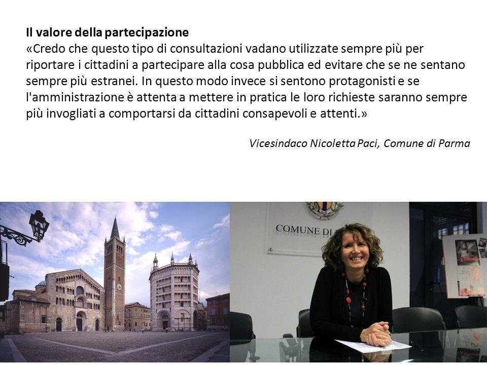 Il valore della partecipazione «Credo che questo tipo di consultazioni vadano utilizzate sempre più per riportare i cittadini a partecipare alla cosa