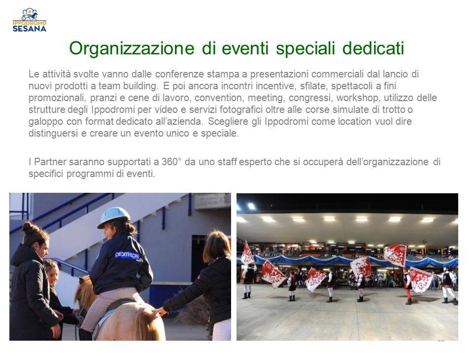 Organizzazione di eventi speciali dedicati Le attività svolte vanno dalle conferenze stampa a presentazioni commerciali dal lancio di nuovi prodotti a team building.
