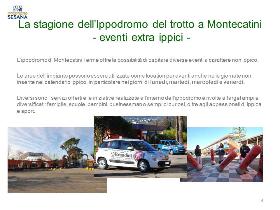 La stagione dell'Ippodromo del trotto a Montecatini - eventi extra ippici - 4 L'ippodromo di Montecatini Terme offre la possibilità di ospitare diverse eventi a carattere non ippico.
