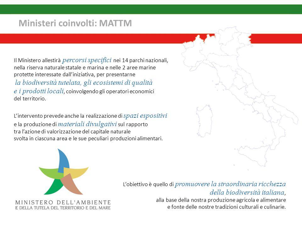 Ministeri coinvolti: MATTM Il Ministero allestirà percorsi specifici nei 14 parchi nazionali, nella riserva naturale statale e marina e nelle 2 aree m