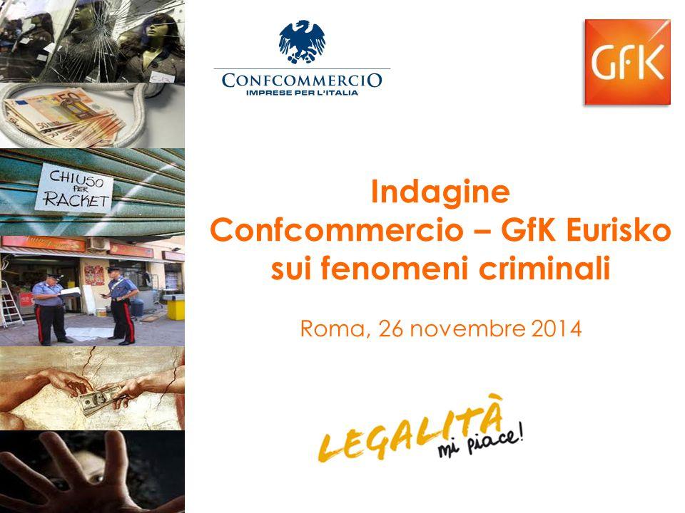 Indagine Confcommercio – GfK Eurisko sui fenomeni criminali Roma, 26 novembre 2014