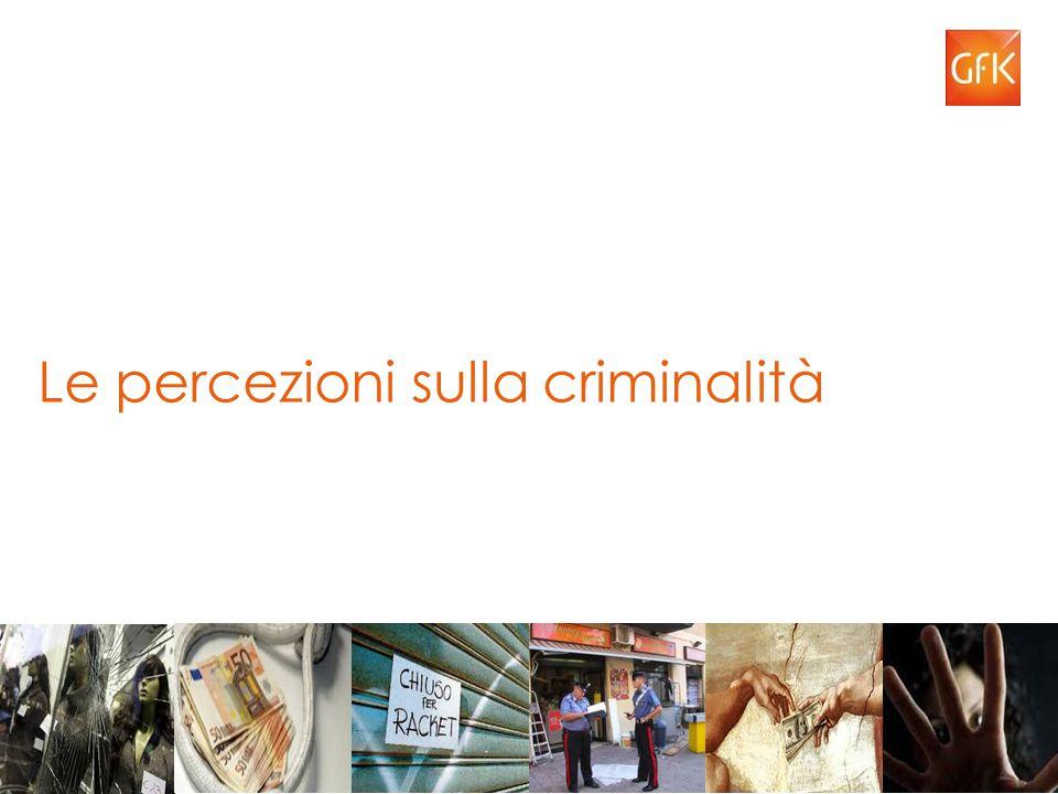 Le percezioni sulla criminalità