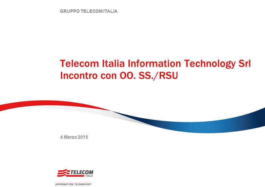 GRUPPO TELECOM ITALIA Telecom Italia Information Technology Srl Incontro con OO.