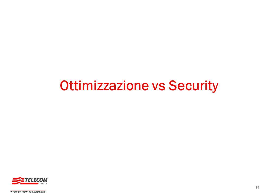 Ottimizzazione vs Security 14